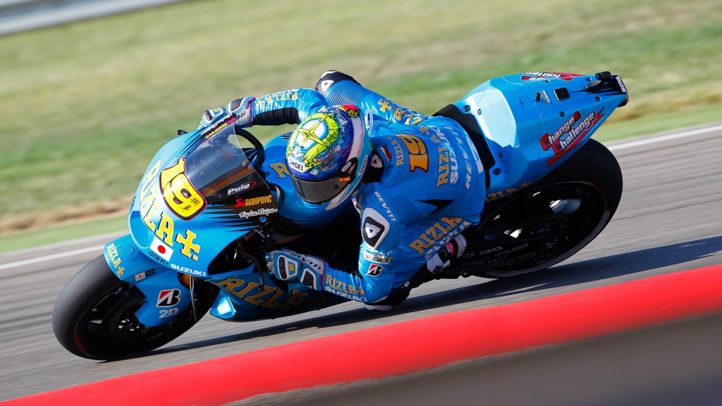 Alvaro Bautista, Rizla Suzuki MotoGP, MotorLand Aragón FP1