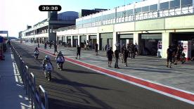 The Blusens by Paris Hilton Racing rider led the proceedings ahead of Terol and Kent at the Gran Premio de Aragón Friday morning opening practice.