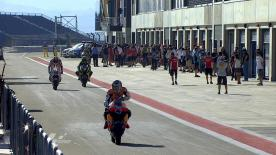 The opening session of track action for the premier class at the Gran Premio de Aragón saw Repsol Honda's Dani Pedrosa lead the pack ahead of Jorge Lorenzo and Casey Stoner.