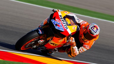 Casey Stoner, Repsol Honda, MotorLand Aragón FP1