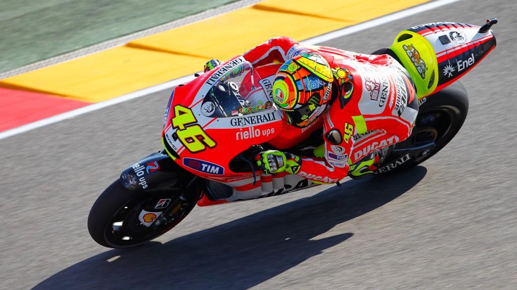 Valentino Rossi, Ducati Team, MotorLand Aragón FP1