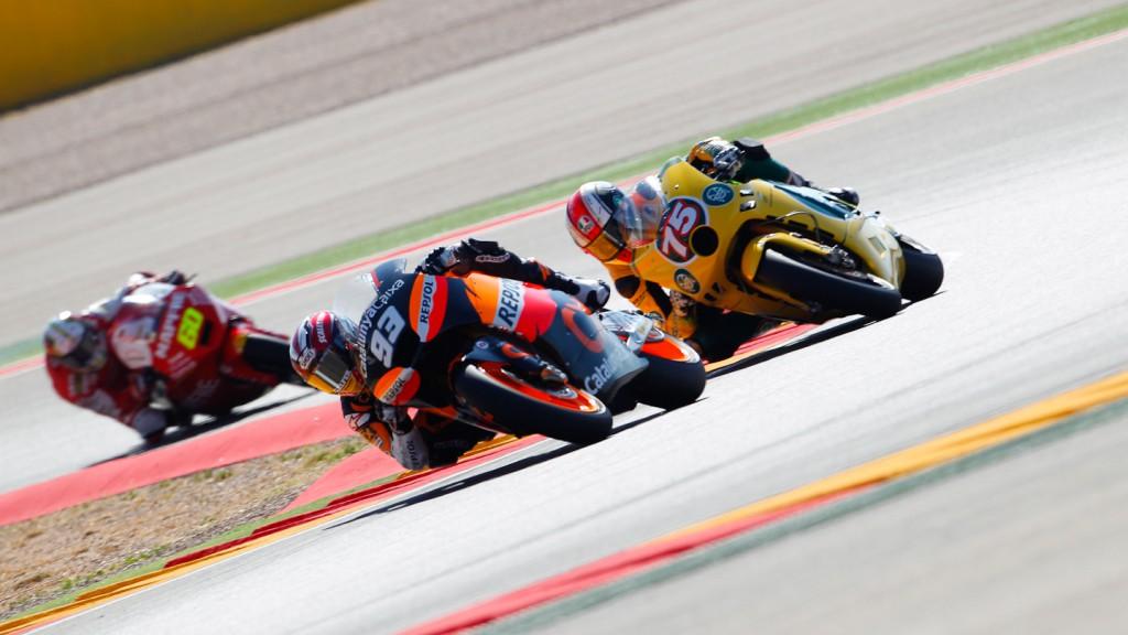 Marc Marquez, Mattia Pasini, Team CatalunyaCaixa, Ioda Racing Project, MotorLand Aragón FP1