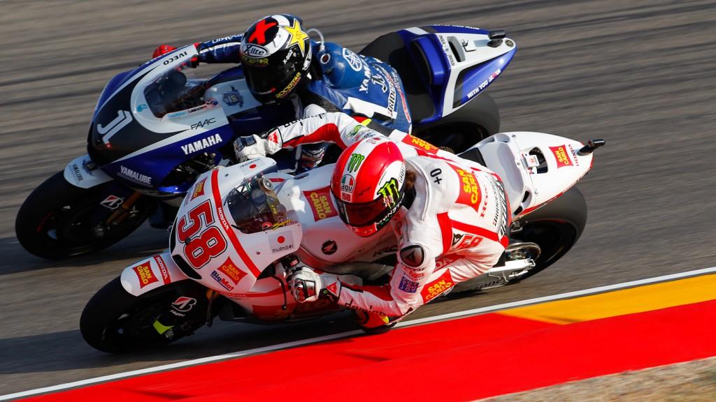 Marco Simoncelli, Jorge Lorenzo, San Carlo Honda Gresini, Yamaha Factory Racing, MotorLand Aragón FP2