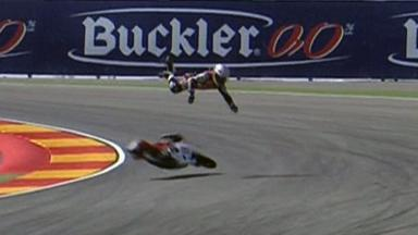 Aragón 2011 - 125cc - QP - Action - Zulfahmi Khairuddin - Crash