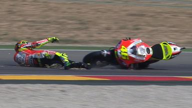 Aragón 2011 - MotoGP - QP - Action - Valentino Rossi - Crash