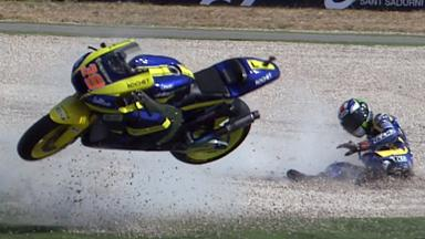 Aragón 2011 - Moto2 - FP2 - Action - Bradley Smith - Crash