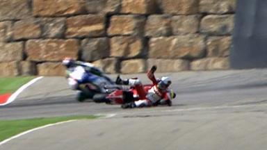Aragón 2011 - Moto2 - QP - Action - Julian Simon - Crash
