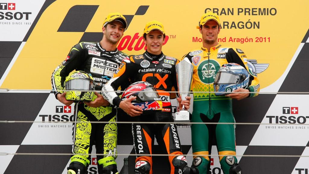 Iannone, Marquez, Corsi, Speed Master, Team CatalunyaCaixa Repsol, Ioda Racing Project, MotorLand Aragón RAC