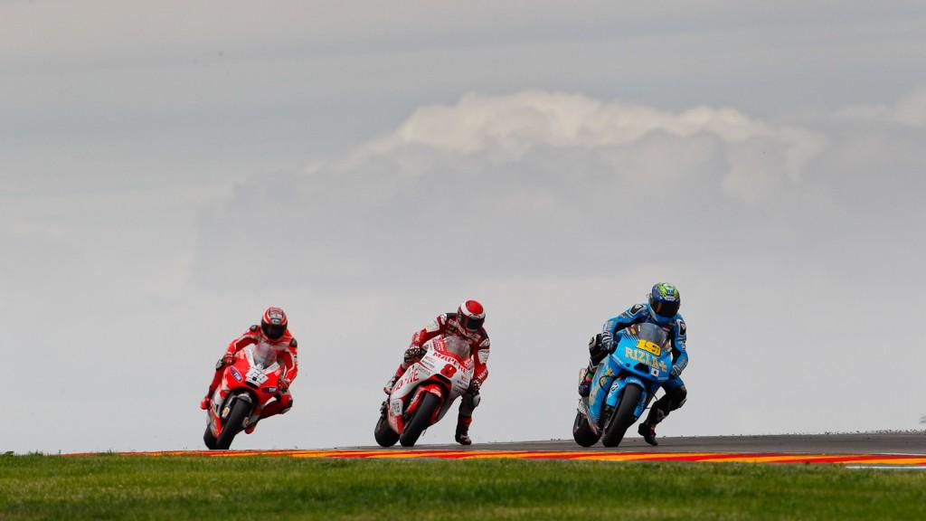 Bautista, Barbera, Hayden, Rizla Suzuki MotoGP, Mapfre Aspar Team MotoGP, Ducati Team, MotorLand Aragón RAC