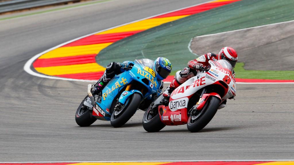Hector Barbera, Alvaro Bautista, Mapfre Aspar Team MotoGP, Rizla Suzuki MotoGP, MotorLand Aragón RAC