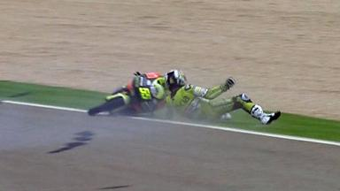 Aragón 2011 - 125cc - Race - Action - Hector Faubel - Crash