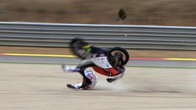 Aragón 2011 - 125cc - Race - Action - Louis Rossi - Crash