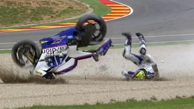 Aragón 2011 - MotoGP - Race - Action - Karel Abraham - Crash