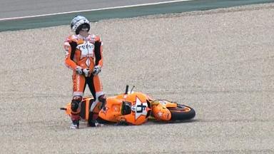Aragón 2011 - MotoGP - Race - Action - Andrea Dovizioso - Crash