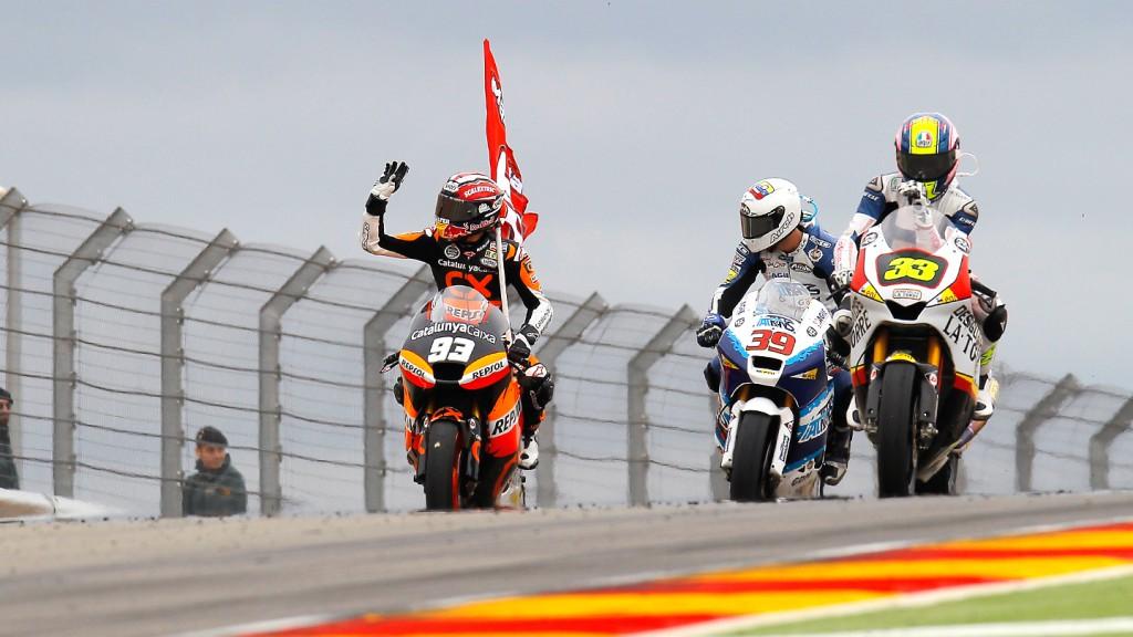 Marquez, Pietri, Gadea, Team Catalunya Caixa Repsol, Italtrans Racing Team, Desguaces La Torre G22, MotorLand Aragón RAC