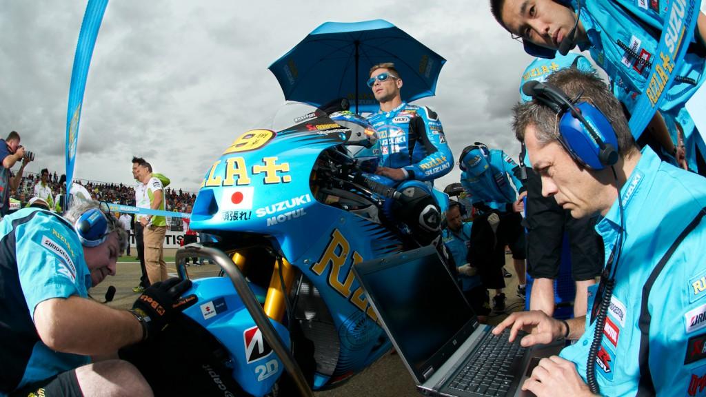 Alvaro Bautista, Rizla Suzuki MotoGP, MotorLand Aragón RAC @ Copyright Alex Chailan & David Piolé