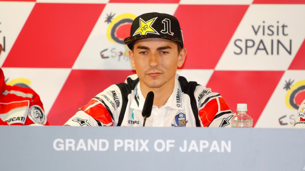 Jorge Lorenzo, Yamaha Factory Racing, Grand Prix of Japan Press Conference