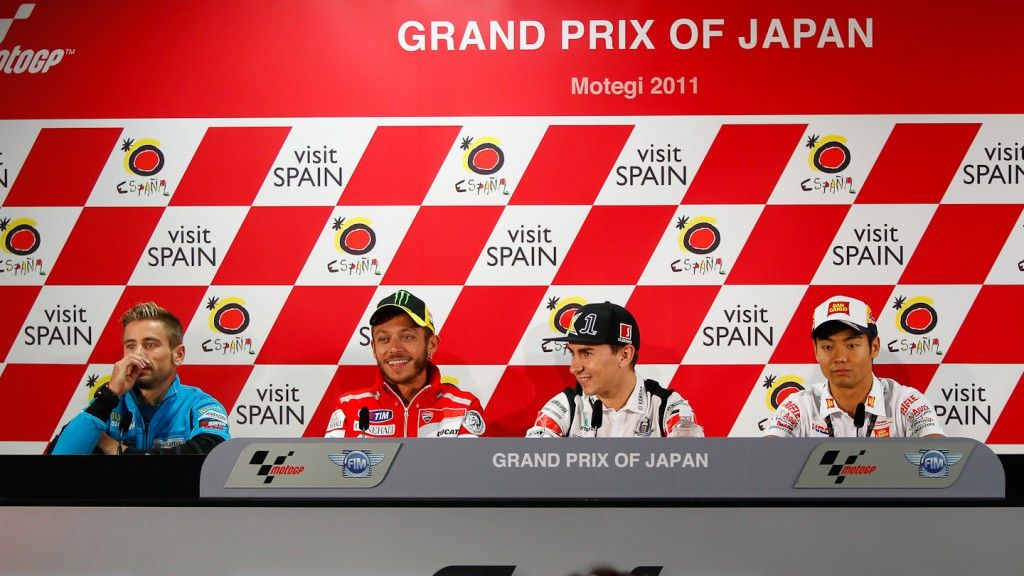 Bautista, Rossi, Lorenzo, Aoyama, Grand Prix of Japan Press Conference