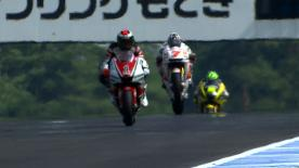 The Australian began the weekend in a focused manner, leading the way at Honda's home track with Italian team mate Dovizioso following and Ducati Team's Nicky Hayden posting the third fastest time.