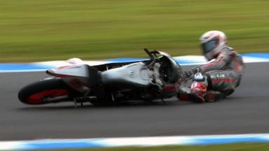 Motegi 2011 - 125cc - FP3 - Action - Danny Webb - Crash