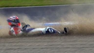 Motegi 2011 - MotoGP - FP3 - Action - Shinichi Ito - Crash