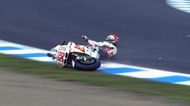Motegi 2011 - MotoGP - QP - Action - Marco Simoncelli - Crash