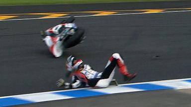 Motegi 2011 - Moto2 - QP - Action - Randy Krummenacher - Crash