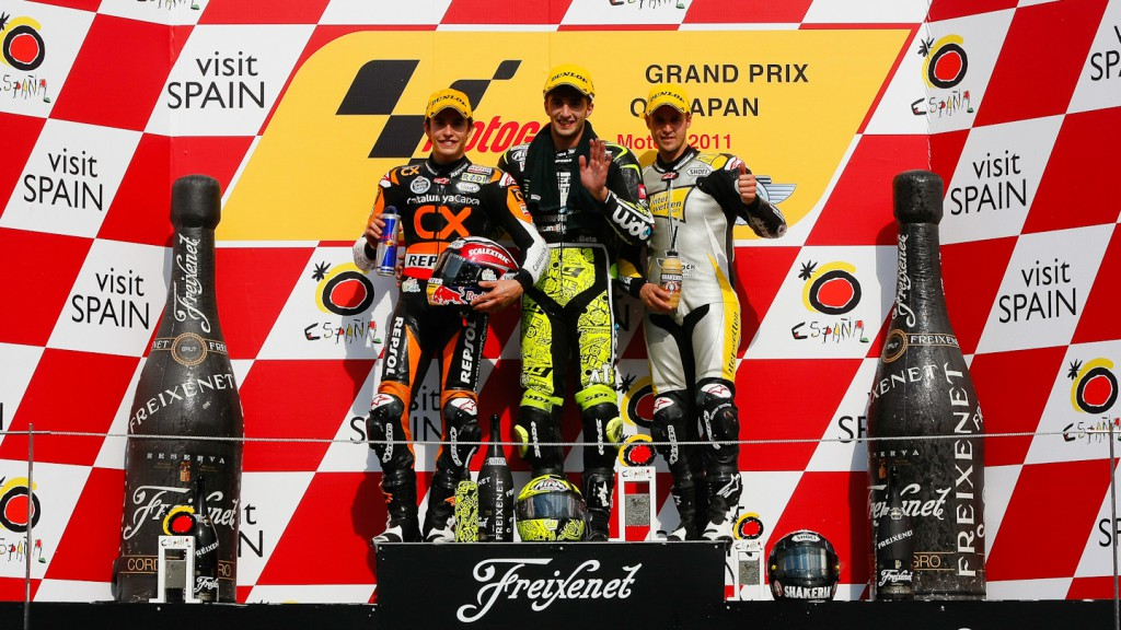Marquez, Iannone, Luthi, Team CatalunyaCaixa Repsol, Speed Master, Interwetten Paddock Moto2, Motegi RAC
