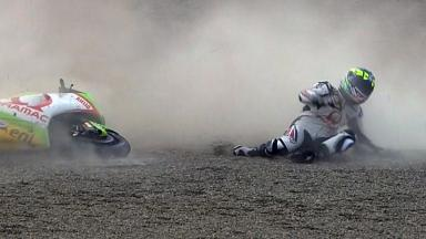 Motegi 2011 - MotoGP - Race - Action - Damian Cudlin - Crash