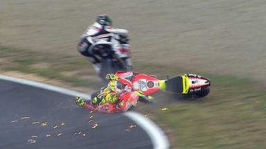 Motegi 2011 - MotoGP - Race - Action - Rossi and Spies - Crash