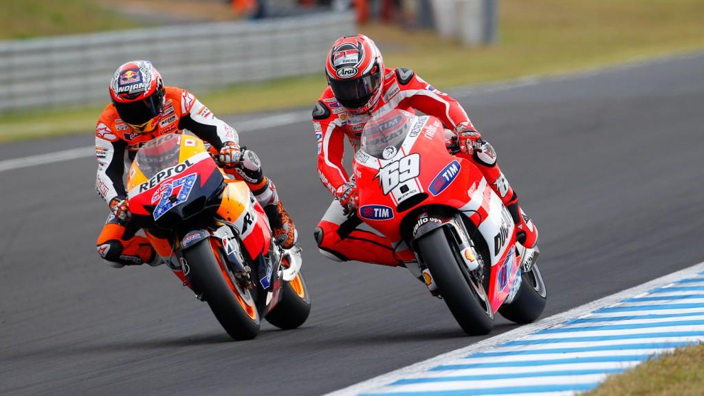 Stoner, Hayden, Repsol Honda Team, Ducati Team, Motegi RAC