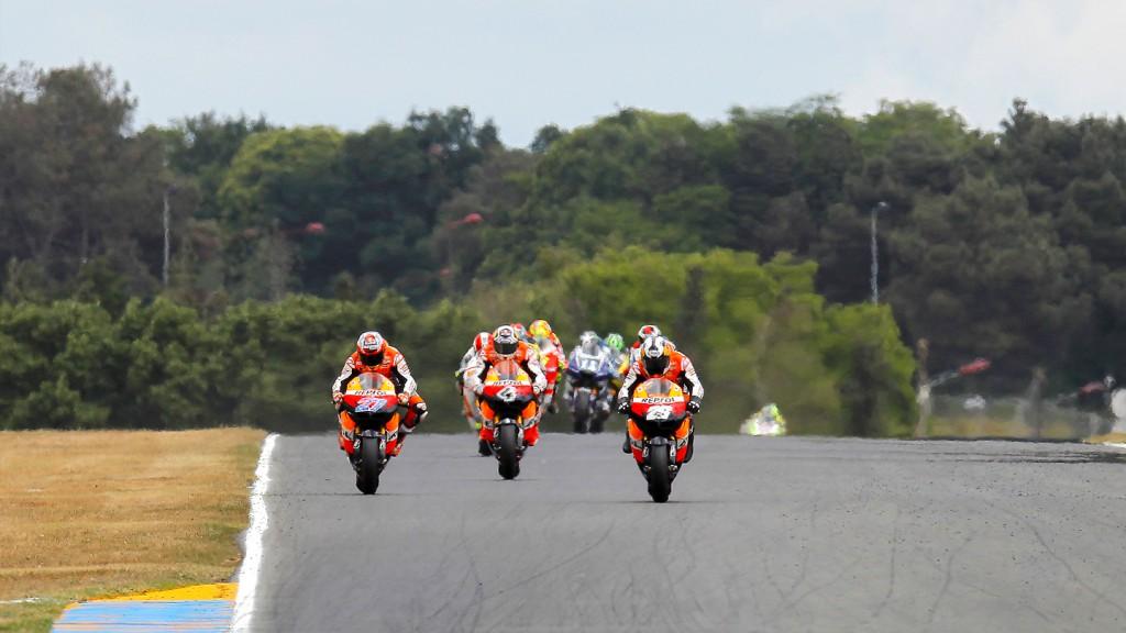 Casey Stoner, Andrea Dovizioso, Dani Pedrosa, Repsol Honda Team