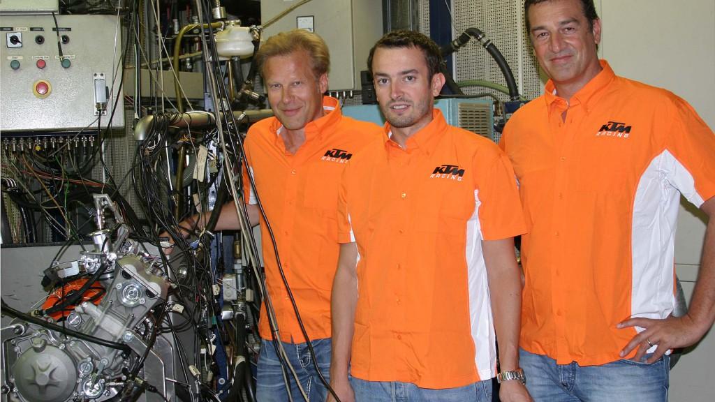 Wolfgang Felber, Heinz Payreder, Kurt Trieb, KTM