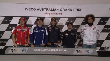 Iveco Australian GP Pre-event Press Conference