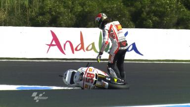 Phillip Island 2011 - MotoGP - FP2 - Action - Marco Simoncelli - Crash