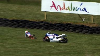 Phillip Island 2011 - Moto2 - FP1 - Action - Yonny Hernández - Crash