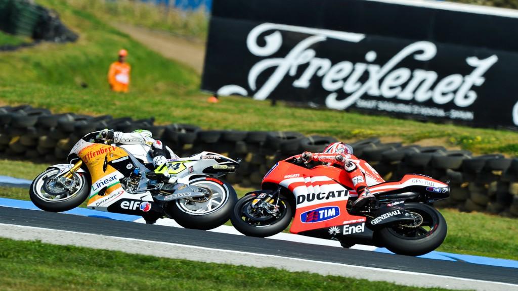 Toni Elias, Nicky Hayden, LCR Honda MotoGP, Ducati Team, Phillip Island FP2