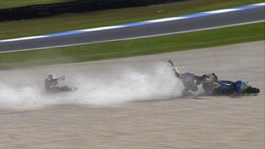 Phillip Island 2011 - 125cc - QP - Action - Zarco and Kornfeil - Crash