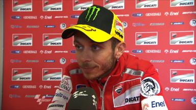 Rossi on tough qualifying run
