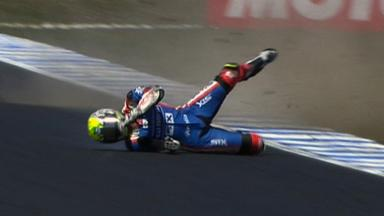 Phillip Island 2011 - Moto2 - FP3 - Action - Yonny Hernandez - Crash