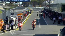 Casey Stoner lapped over half a second quicker than the MotoGP field for the third practice session at the Iveco Australian Grand Prix, with Lorenzo and Pedrosa the only two within one second of the leader.