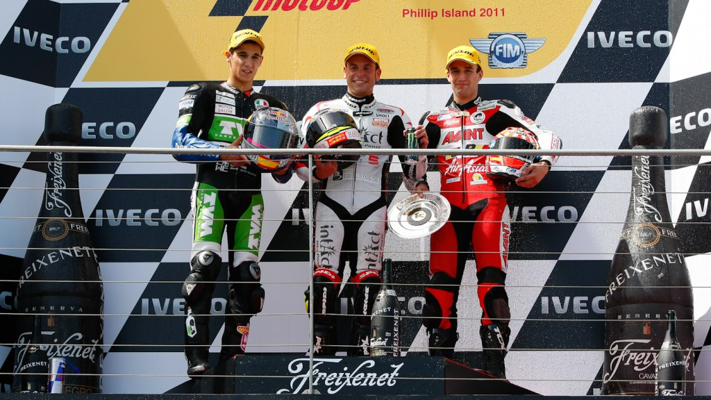 Salom, Cortese, Zarco, RW Racing GP, Intact-Racing Team Germany, Avant-AirAsia-Ajo, Phillip Island RAC