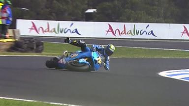 Phillip Island 2011 - MotoGP - Race - Action - Alvaro Bautista - Crash