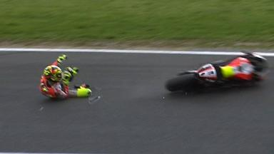 Phillip Island 2011 - MotoGP - Race - Action - Valentino Rossi - Crash