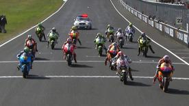 In front of a his home fans at Phillip Island, Casey Stoner rode a flawless race to claim his second MotoGP World Championship title at the Iveco Australian Grand Prix. Simoncelli and Dovizioso joined the newly crowned Champion on the podium.
