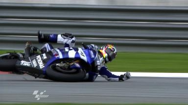 Sepang 2011 - MotoGP - FP1 - Action - Katsuyuki Nakasuga - Crash