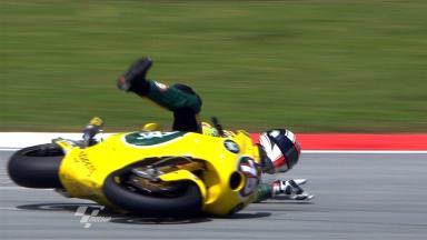 Sepang 2011 - Moto2 - FP1 - Mattia Pasini - Crash