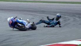 Sepang 2011 - Moto2 - FP2 - Action - Pol Espargaró - Crash