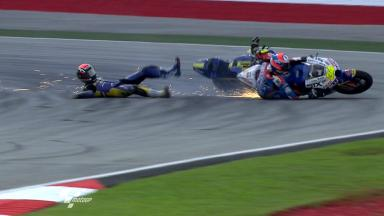 Sepang 2011 - Moto2 - FP2 - Action - Mike Di Meglio & Esteve Rabat - Crash