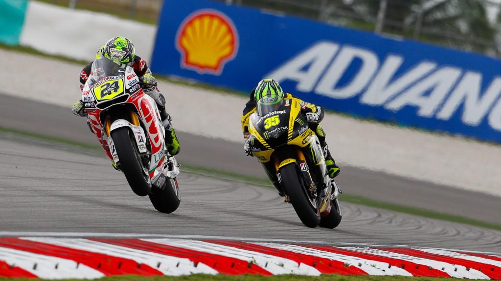Toni Elias, Cal Crutchlow, LCR Honda MotoGP, Monster Yamaha Tech 3, Sepang FP2
